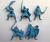 Set of 5 High Elves Warriors Plastic Toy Soldier 54mm 1/32 Fantasy Tehnolog