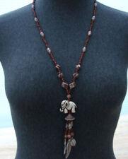 Markenlose Modeschmuck-Halsketten & -Anhänger aus Kunststoff mit Elefanten-Motiv