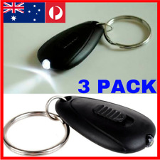 3 PACK Small LED Flashlight Keyring Key Chain Torch Light Lamp KEYS keychain