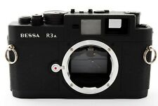 【Excellent+++】Voigtlander Bessa R3A mat Black Film camera from Japan 427833