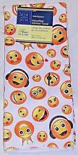 Emoji Hand Towel Soft Absorbent Microfiber Smiles Smiling Hearts White Emojis