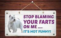 West Highland Terrier large steel sign    400mm x 300mm og