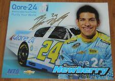 2014 Brennan Newberry signed Qore-24 Chevy Impala NASCAR K&N postcard