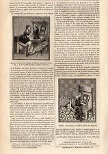 MINIATURES DU MOYEN AGE REPRESENTANT FEMMES ARTISTES PRESS ARTICLE 1847 PRINT