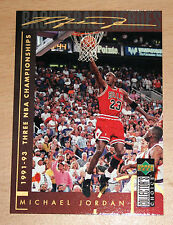Michael Jordan 1994 Collector Choice THREE NBA CHAMPIONSHIPS GOLD SIGNATURE CARD