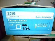 5 x Busch Jaeger Zentralscheibe für Standardwippen 0423-4-4127  1fach 2517 weiß