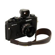 Choco leather wrist strap for RF film Digital camera Leica