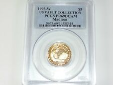 1993 W $5 Madison Gold Commemorative Coin PCGS PR69 DEEP CAMEO Vault Collection