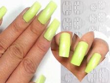 HALLOWEEN GREEN 🕸 False Nails Glue On Adhesive 20pc Long Full Cover Art USA!