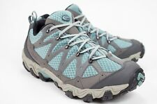 Oboz Luna Womens 11 Outdoor Mineral Blue Suede Leather Low Lace Up Hiking Shoes