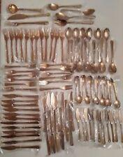 Vintage Bronzeware Service for Twelve 91 Pc Set in Wrapper
