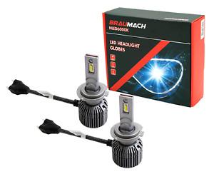 BRAUMACH 6000K LED Headlight Bulbs Globes H7 For Abarth 500 / 595 / 695 1.4 312.