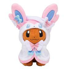 Pokemon Center Eevee Poncho Sylveon Nymphia 7 inch Plush Doll Soft Figure Toy