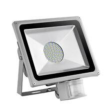 50W Kaltweiβ LED SMD Außen Strahler mit Bewegungsmelder Fluter Flutlicht IP65