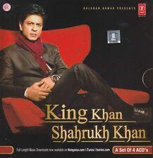 KING KHAN SHAHRUKH KHAN - 4 CD BOLLYWOOD COMPILATION SET - FREE POST