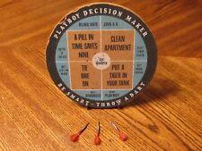 New listing Playboy Vintage Dart Board Decision Maker And Regular Dart Board