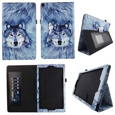 Greyish Wolf Fit for Amazon Fire HD 10 10.1 Inch Tablet Case Cover ID Slots