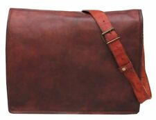Men's S TO XL Vintage Sling Leather Messenger Bag Shoulder Laptop Bag Briefcase