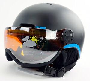 Salomon Grom Visor Snow Helmet Kid's Size Small 49-53cm Matte Black Ski Junior