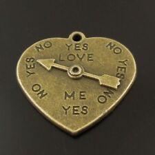 27PCS Antique Bronze Vintage Alloy Heart Arrow Turntable Pendant Charms 38331
