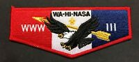 OA WA-HI-NASA LODGE 111 MIDDLE TENNESSEE COUNCIL PATCH EAGLE BROTHERHOOD FLAP