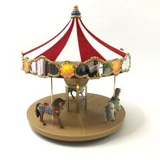 Holiday Carousel Ride Display with 2 Horses 2004 Hallmark Keepsake Ornament