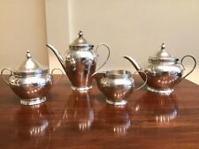 ANTIQUE FRENCH 950 STERLING SILVER DIMINUTIVE TETE a TETE TEA SET~518 grams~