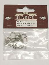 140 Size 1 Hardy Suicide Fishing Hooks