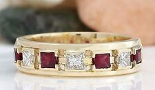 1.28 Carat Natural Ruby 18K Solid Yellow Gold Luxury Engagement Ring