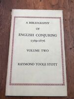 a bibliography of english conjuring 1569 - 1876 vol 2 limited edition