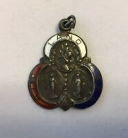 Vintage WWII Religious Catholic Medal Air Land Sea Sterling