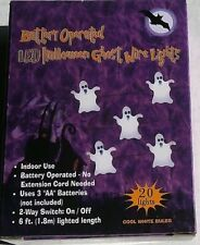 Halloween LED GHOST WIRE LIGHTS Battery Operated,White Bulbs,Battery Operated