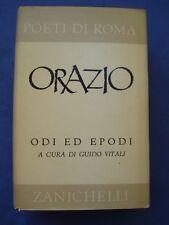 CLASSICI LATINI-POETI DI ROMA-ORAZIO-ODI ED EPODI-ZANICHELLI