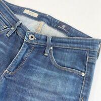 AG Adriano Goldschmied The Stilt Cigarette Leg Jeans Size 27R Blue Denim Womens