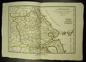 la Thessalie la Mer Egée Golfe Thermaïque Carte c 1790 J D Barbié du Bocage map