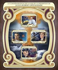 Chad 2017 MNH J. Robert Oppenheimer 50th Mem 4v M/S WW2 WWII Enola Gay Stamps
