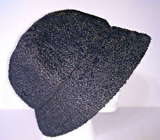GAP HAT Bucket Cloche Womens Black With Knit Flower Packable