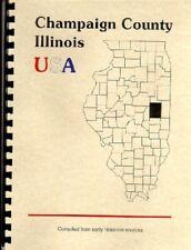 'Pioneers of Champaign County' Illinois 1886 history biographies Urbana IL + WPA
