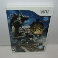 Monster Hunter Tri 3 (Nintendo Wii, 2010) Complete Tested & Working Torn Manual
