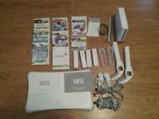 Complete WII Game Console with Games Fit Balance Board Controllers Cables Manual