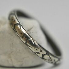 southwest ring band slender pinky stacker sterling silver Size  5.75