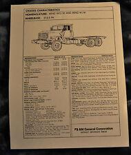 Vtg Am General Tech Sheet Drawings M942 Wo/W & M942 W/W N