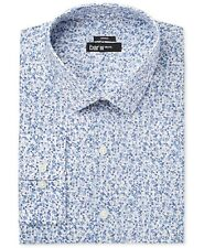 $95 BAR III Men SLIM-FIT BLUE WHITE FLORAL LONG-SLEEVE DRESS SHIRT 15-15.5 32/33