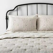 Hearth & Hand Magnolia SIMPLE STRIPE STITCH Full Queen Comforter Sham Set Nwot