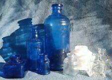 Vintage Ink Well Bottle Lot: Carter's, Sanfords, Staffords, Masters Great Lot!
