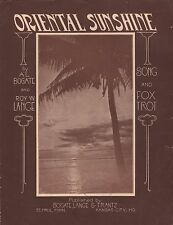 ORIENTAL SUNSHINE fox trot AL BOGATE & ROY W. LANGE St. Paul & Kansas City 1923