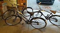 Vintage lot of English 1950s bicycles - 3 total bicycles - Gazelle & Robin Hood