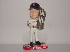 CURT SCHILLING Boston Red Sox Bobble Head 2007 World Series Champs Trophy MLB**