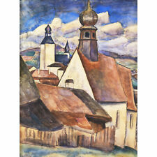 Gestel View Of Rain Over Roofs Painting Extra Large Art Poster