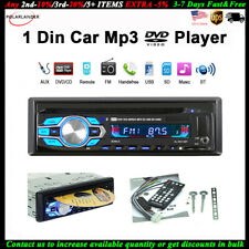 Single 1 Din Car DVD CD MP3 Player Audio USB/AUX/SD Stereo Radio BT FM In-dash